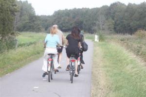 fietsen in de natuur